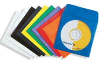 Tyvek CD Envelope with Window, 10/pkg