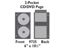 2-Pocket CD/DVD Page - 10/pkg