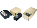 "Tan CardFile Box - 3 1/2""H x 5 1/2""W x 10 1/2""L"